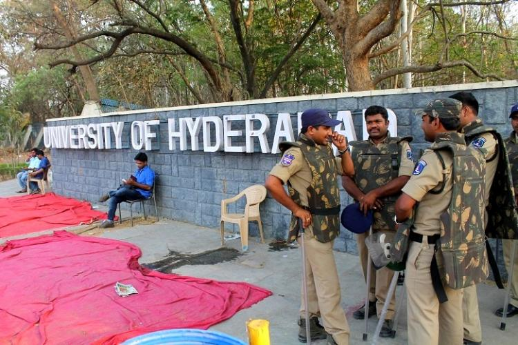 Hyderabad University row Striking non-teaching staff resume duties campus peaceful
