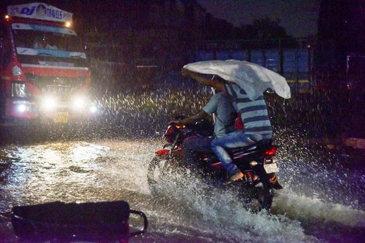 Waterlogged street in hyderabad PTI photo