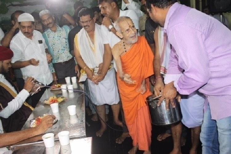 In a first Udupi Sri Krishna Mutt holds Iftar in temple premises