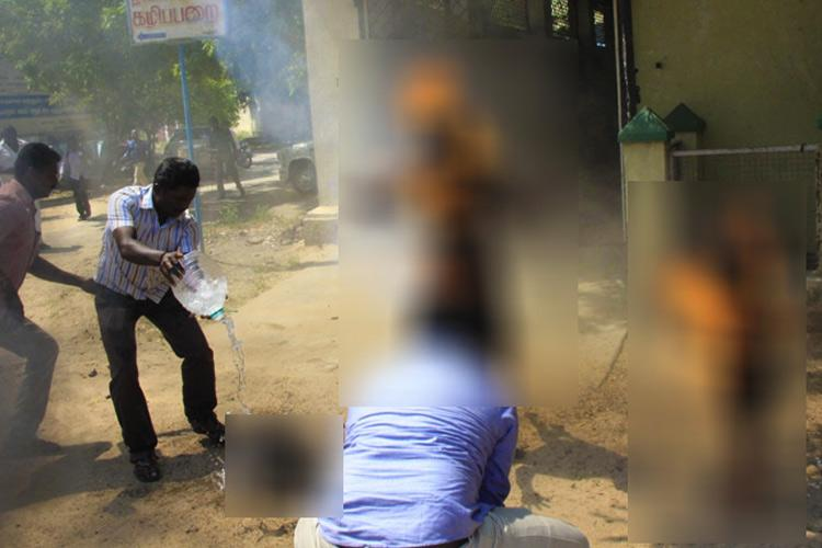 Hounded by loan sharks family with 2 kids set themselves on fire outside TN Collectorate