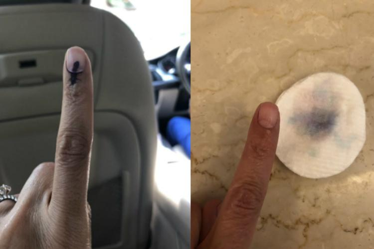 Voters question Election Commission after they realise indelible ink vanishes