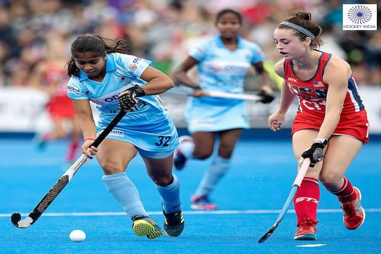 Hockey World Cup Indian women hold US qualify for quarters playoffs