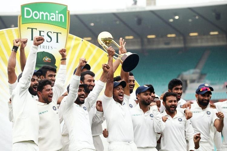 Amazing day for Indian cricket Twitter explodes over Indias 1st Test series win in Aus