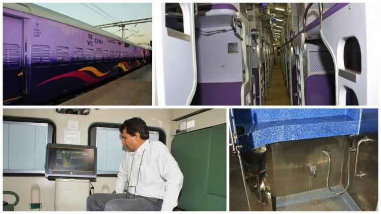 In pictures Indian Railways unveils train coaches with swanky looks