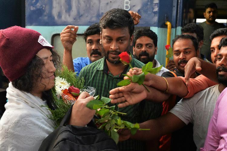 Irom Sharmila arrives in Thiruvananthapuram to meet Kerala CM Kodiyeri
