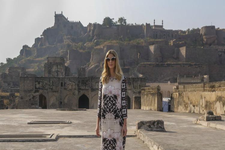In pics Ivanka Trump visits Hyderabads historic Golconda Fort