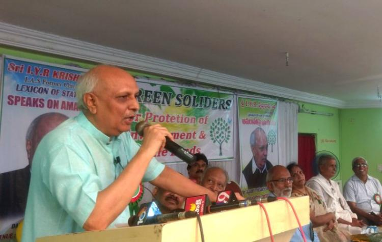 How can govt break forest conservation laws Former AP Chief Secy slams Amaravati plan