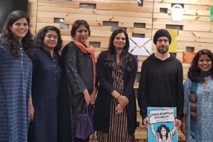 Twitter CEO stirs up storm for posing with anti-'Brahmin' poster