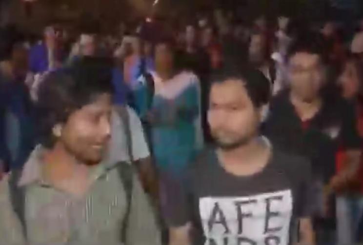 Jadavpur university students raise pro-Afzal Azadi slogans at rally