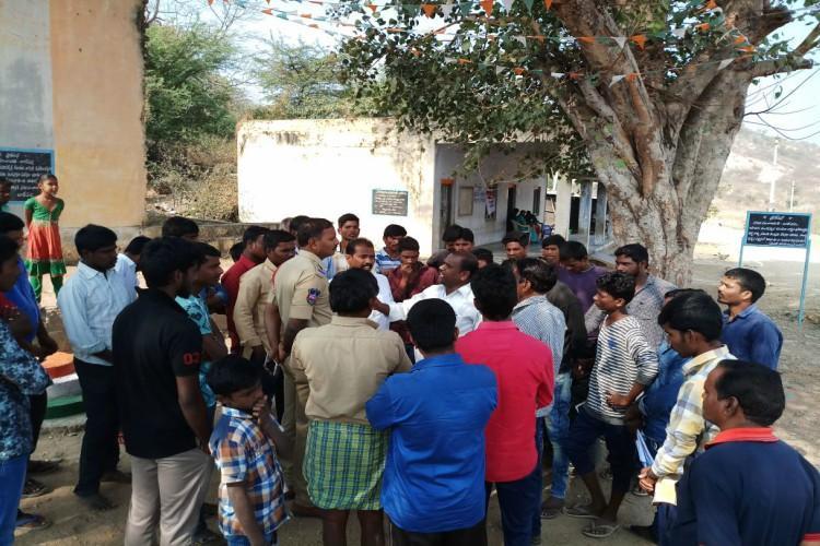Dalits Backward Caste members fight over installation of Ambedkar statue in Telangana