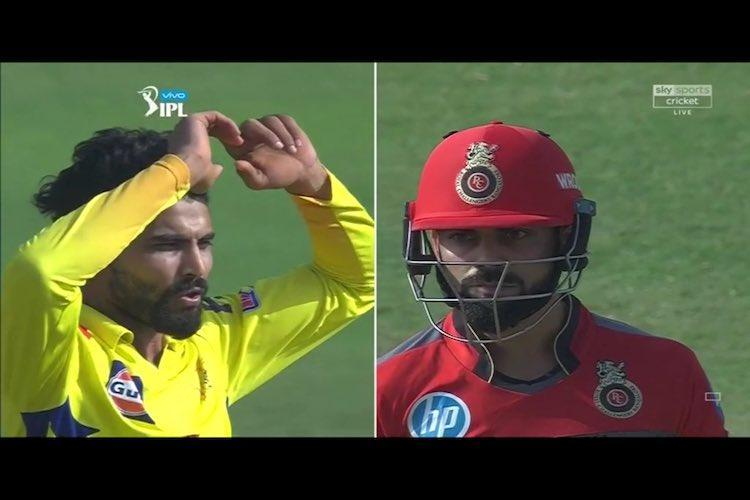 Sorry didnt mean to Jadejas reaction to getting Kohlis wicket leaves people laughing
