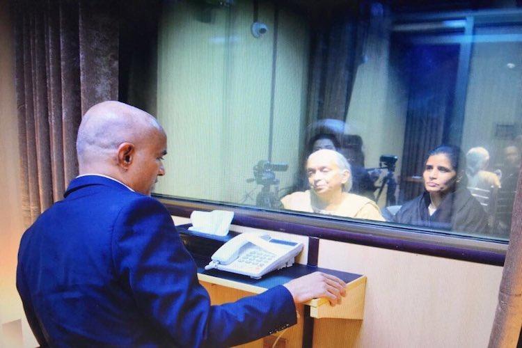 Gross violation of human rights Sushma slams Pakistan over Jadhav meeting