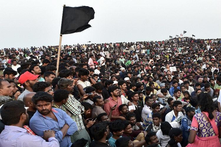 Chennai police revokes Section 144 in Marina beach