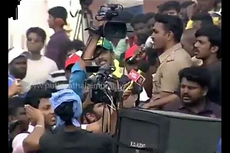 Remember TN cop who made rousing speech at jallikattu protest Hes in trouble