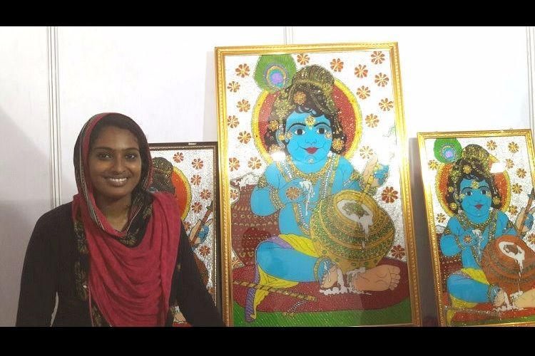It is art not religion says Kerala Muslim artist exhibiting Krishna paintings at BJP meet