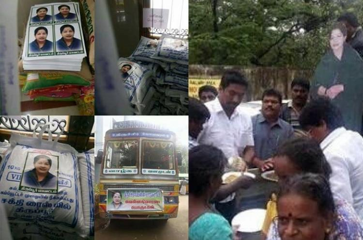 PR exercise by AIADMK backfires party says impostors forcing posters on relief materials