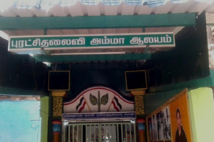 AIADMK councillor builds temple in memory of goddess Jayalalithaa