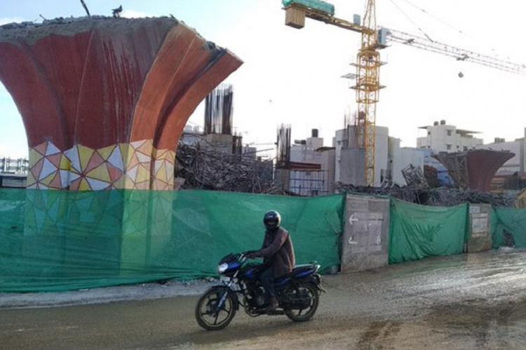 Bengalurus Jayadeva flyover demolished after three years of planning