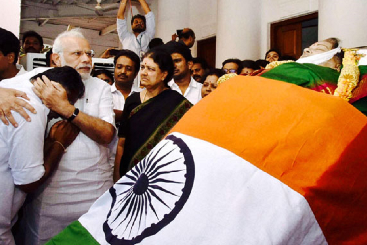 PM Modi should not unveil portrait of convict Jayalalithaa in Assembly cry TN opposition