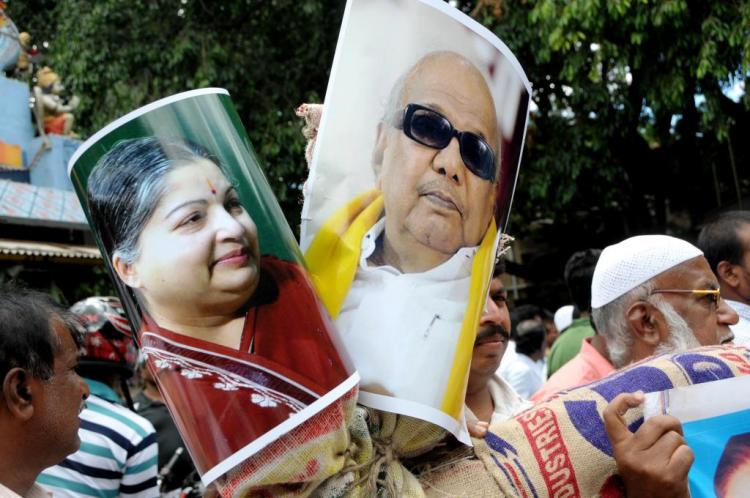 AIADMK DMK mock each other over candidate interviews before TN elections