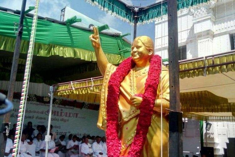 AIADMK to make changes to Jayalalithaa statue following outburst