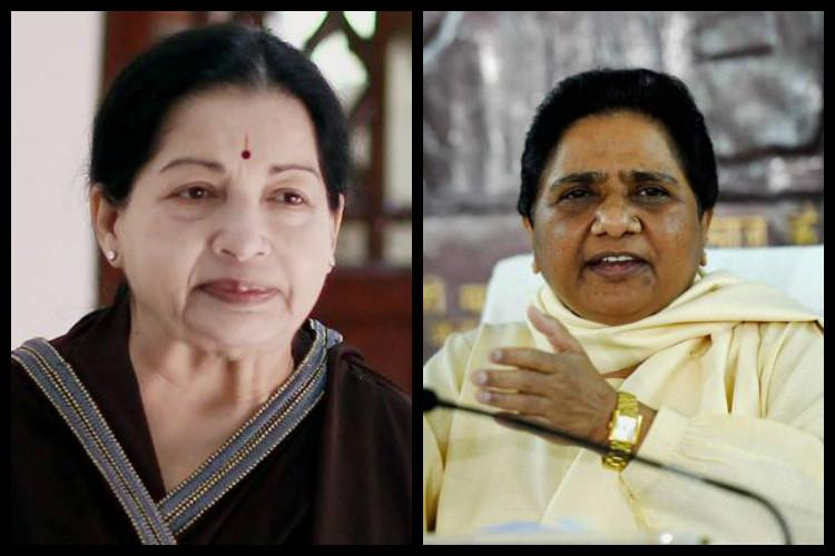 Jayalalithaa was moved to issue a statement after watching Mayawati episode unfold on TV