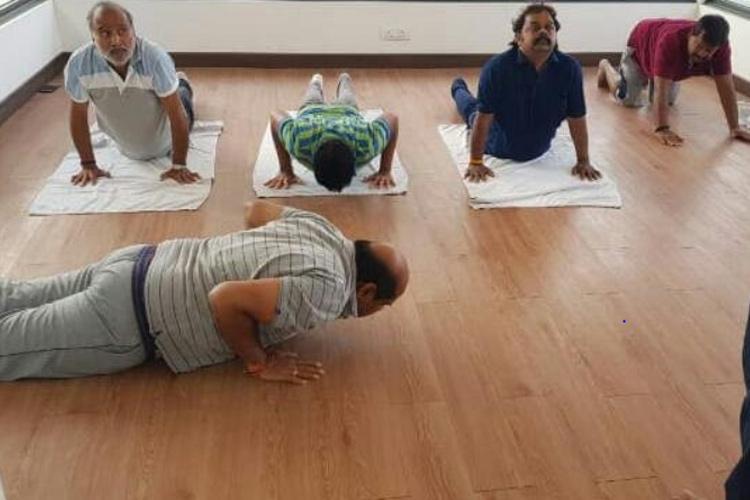 JDS legislators staying at resort destress with yoga