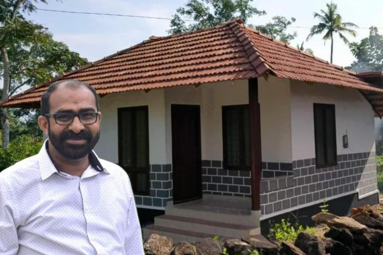 Kerala priest Father Jijo Kurian and a Cabin House he built for the poor