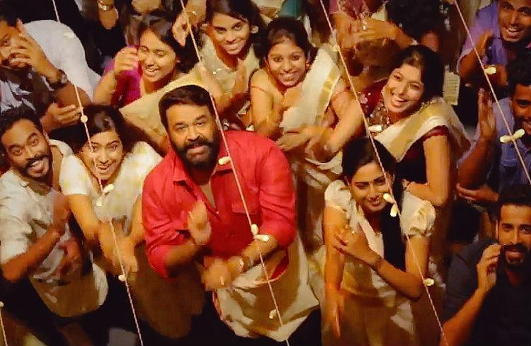 Mohanlal shakes a leg in popular Jimmiki Kammal song from Velipadinte Pusthakam