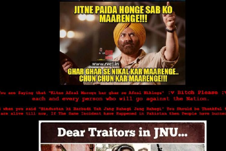 JNU library website hacked Sunny Deol poster put up with Aye Mere Watan Ke Logon track