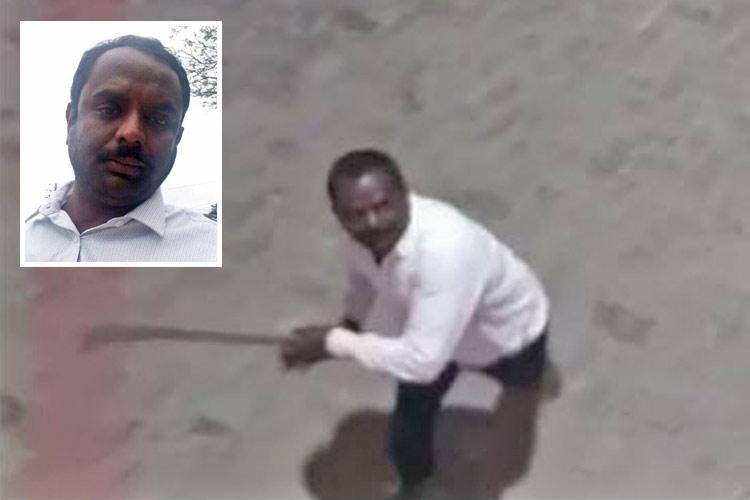 Watch Madikeri Cong man brandishes sickle threatens to hack people at petrol pump