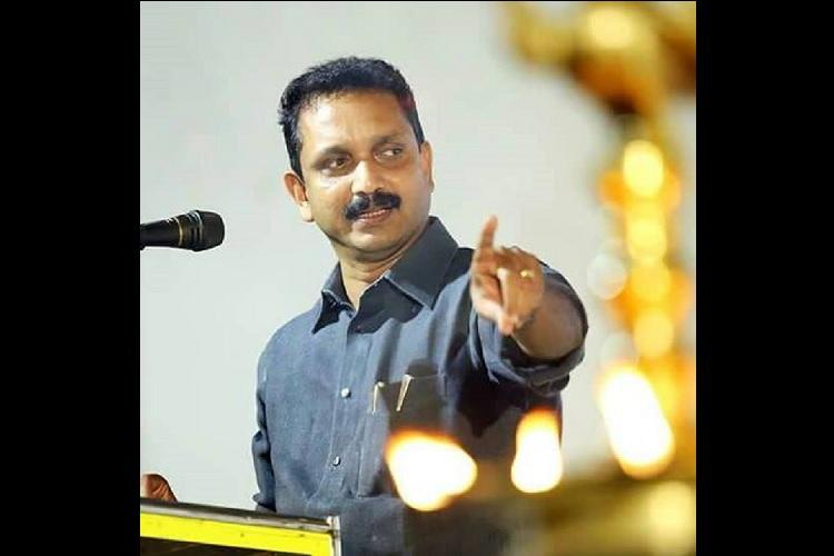 Kerala BJP leader K Surendran booked for insulting police officers in FB post