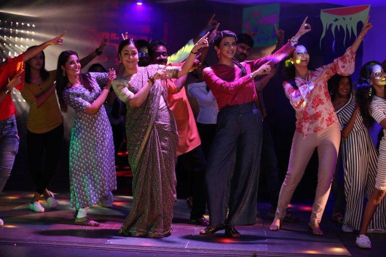 Kaatrin Mozhi will feature Jyothikas version of the popular song Jimikki Kammal