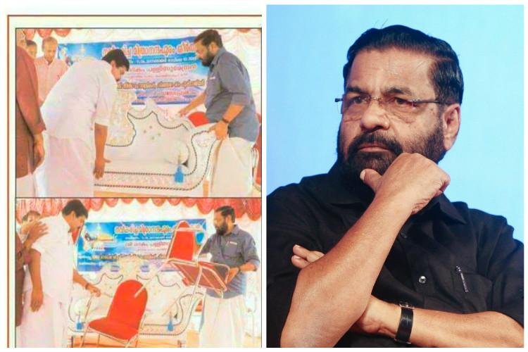 No need of royal thrones at govt functions Kerala Minister removes throne meant for seer