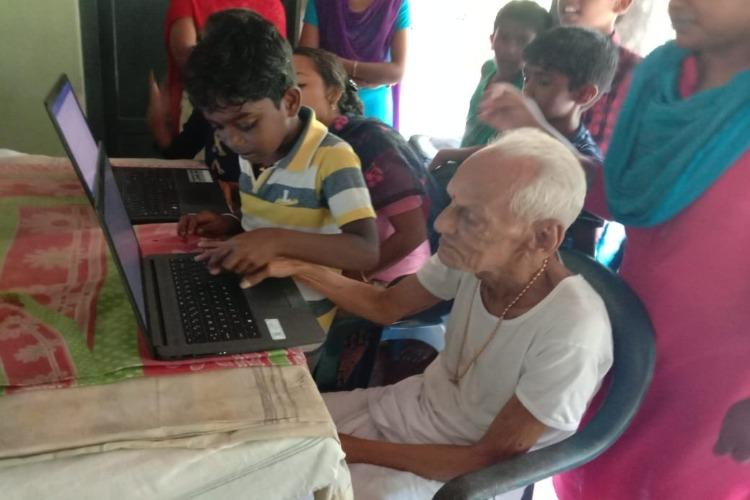 Students of Kerala govt school turn teachers take classes for elderly in village