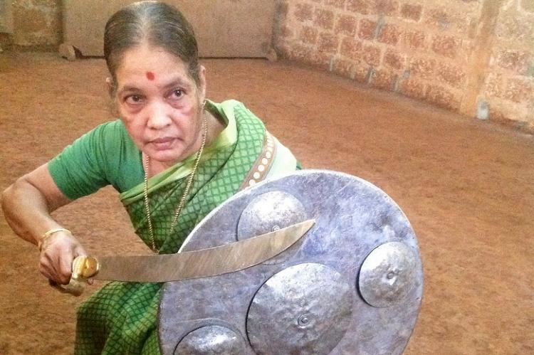 Defying age with a sword Meenakshi Gurrukkal Keralas grand old Kalaripayattu dame