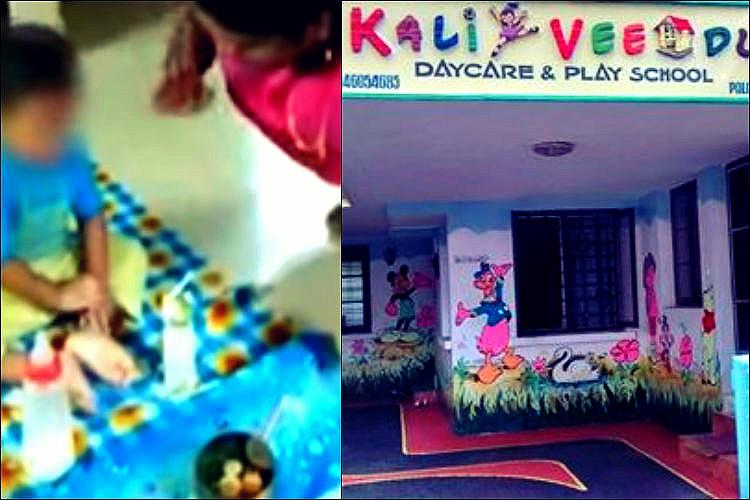 Footage emerges of child beaten by staffer Kochi day care faces charges of repeated abuse