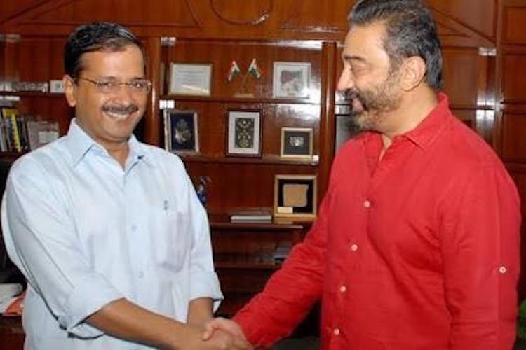 With politics in mind, Arvind Kejriwal meets actor Kamal Haasan