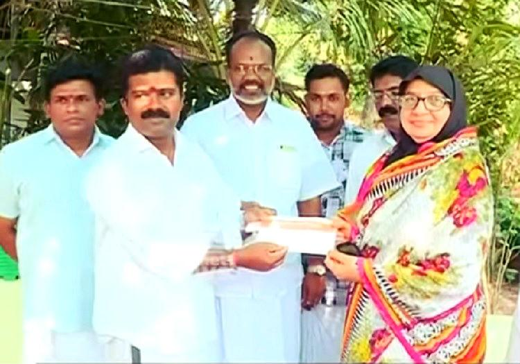 Political maneuvering Rebel Kerala Muslim League leader donates to BJP party fund