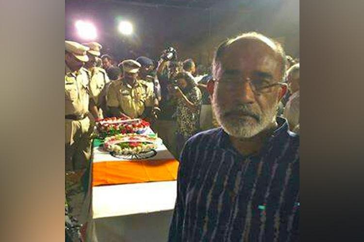 Pic with jawans coffin Alphons Kannanthanam files complaint with state police chief