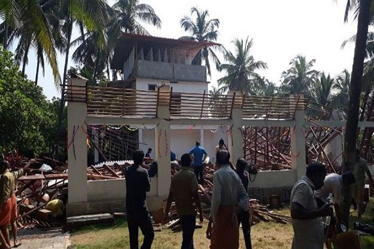 Around 60 police officers injured after roof at Kannur resort collapses