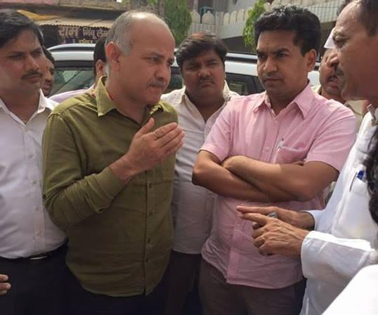 Third law minister in Delhi in six-months AAP replaces Kapil Mishra with Manish Sisodia