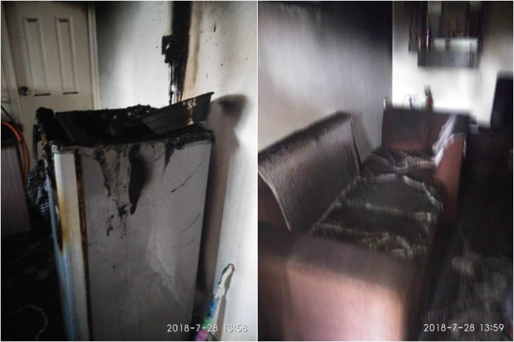 Fluctuating voltage causes fire in Bluru flat causes extensive electrical damage