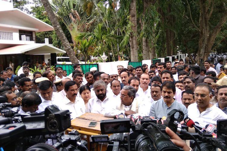 All Karnataka ministers resign BJP now has more numbers in Assembly
