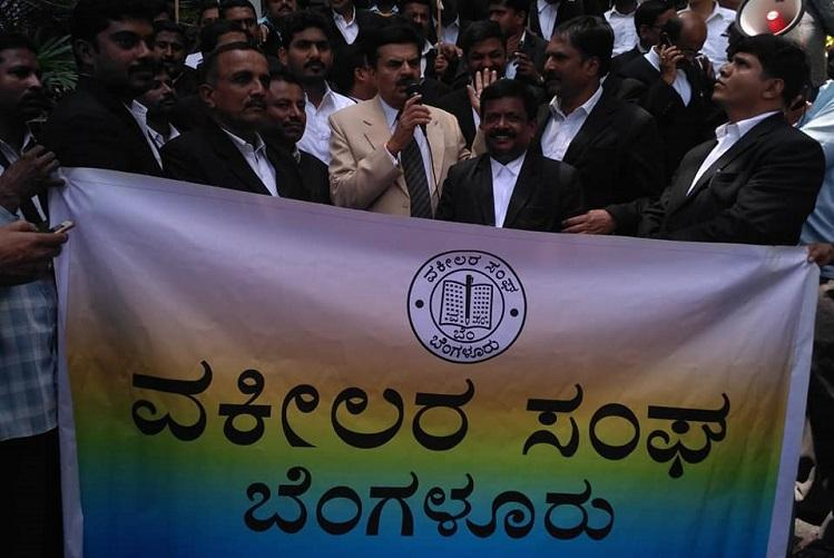Advocates in Karnataka abstain from court work protesting over Justice Jayant Patels transfer