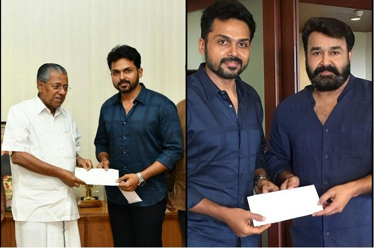 Karthi meets Kerala CM Mohanlal