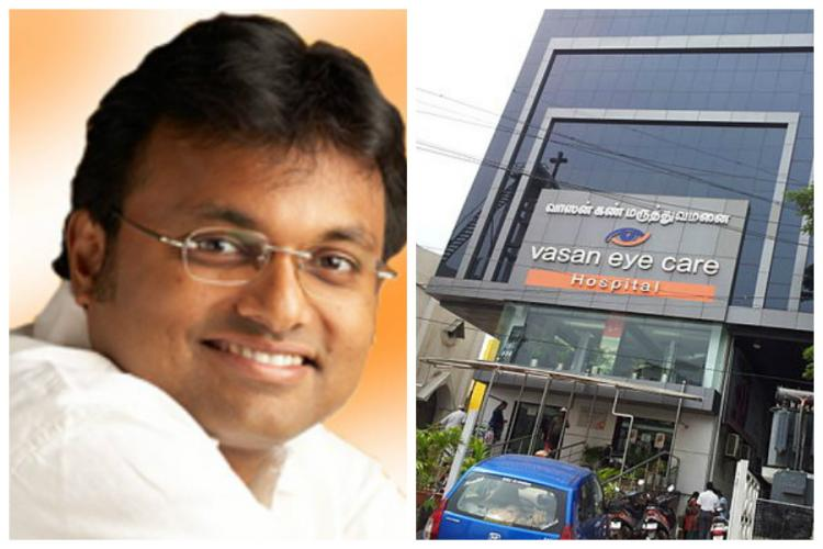 Vasan Healthcare allegations Reports of ED stepping in Chidambaram calls TNIE story ridiculous