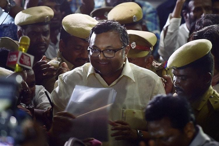 SC restores lookout notice, asks Karti to approach CBI for quizzing