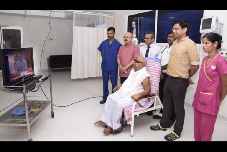 Karunanidhi to be discharged after week-long treatment at hospital