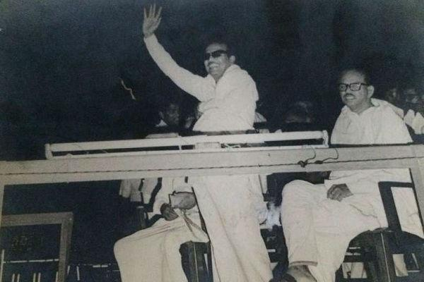Karunanidhi became an MLA 13 times but once in 1984 he didnt contest
